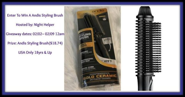 Andis Styling Brush Giveaway