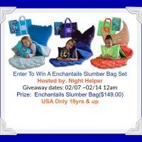 Enter To Win A Enchantail Slumber Bag Set Giveaway