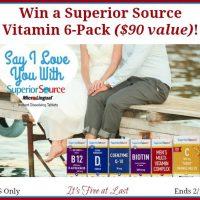 Superior Source Vitamin 6-Pack Giveaway #SuperiorSource