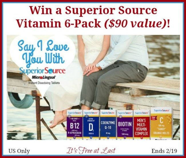 Superior Source Vitamin 6-Pack Giveaway