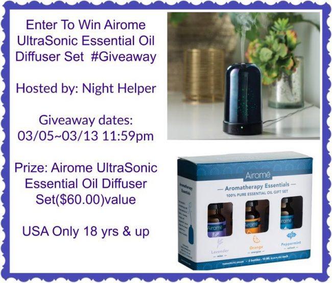 Airome Ultrasonic Essential Oil Diffuser Set