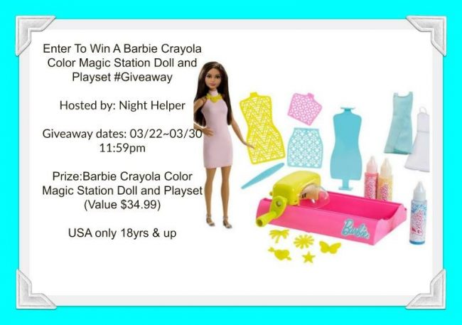 Barbie Crayola Color Magic Station Doll and Playset #Giveaway