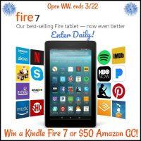 Amazon Kindle Fire 7 or $50 Amazon GC - Winners Choice