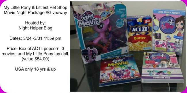 My Little Pony & Littlest Pet Shop Movie Night Package #Giveaway