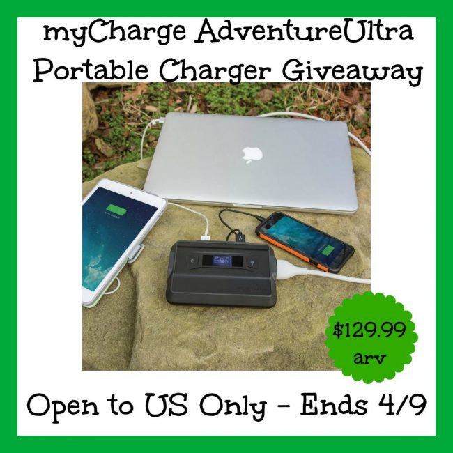 MyCharge Adventure Ultra Giveaway