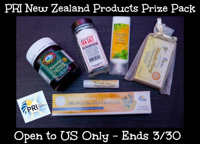 PRI Manuka Honey & More Prize Pack Giveaway