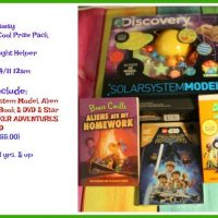Prize Pack Package Giveaway - DVD's, Book, Solar System Model