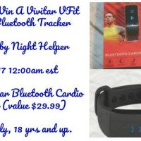 Vivitar VFit Cardio Bluetooth Tracker Giveaway