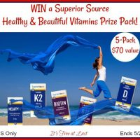 Superior Source Healthy & Beautiful Vitamins Prize Pack Giveaway