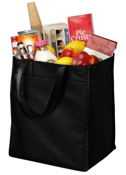 Extra-Wide Polypropylene Grocery Tote Bag