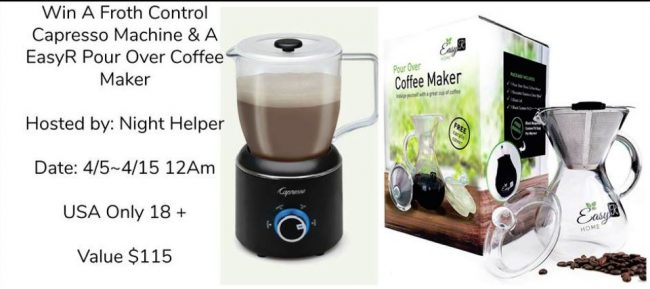 Froth Control Capresso Machine & EasyR Pour Over Coffee Maker Giveaway