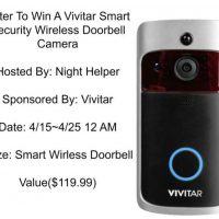 VIVITAR Wireless Doorbell Camera Giveaway