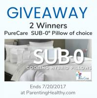 PureCare Sub-0 Pillow Giveaway - 2 Winners