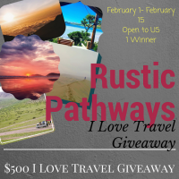 $500 Rustic Pathways I Love Travel Giveaway - Gift Certificate for Travel or Hotel