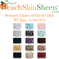 PeachSkin Sheets Giveaway - Winners Choice of Color & Size US Only