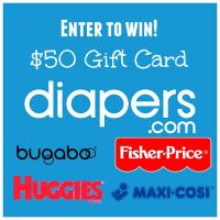 $50 Diapers.com Gift Card Giveaway US Only
