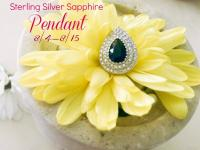 Sterling Silver Sapphire Pendant Giveaway - Enter to Win