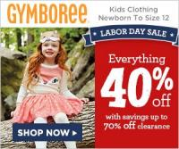 Gymboree 40% off Everything Labor Day Sale - Including the Halloween shop!