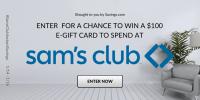Sam's Club e-gift cards Giveaway 5 - $100 Winners #SamsClubInstantSavings