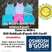 $50 OshKosh B'gosh Gift Card Giveaway  #FieldsOfFun