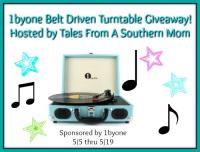 Belt-Drive 3 Speed Stereo Portable Turntable Giveaway